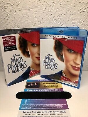 Mary Poppins Returns 2019 Blu-Ray + Digital HD (NO DVD INCLUDED) PLEASE READ!!