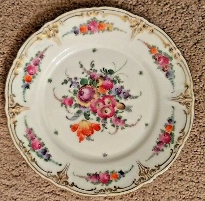 Hand Painted Salad Plate from Dresden Germany