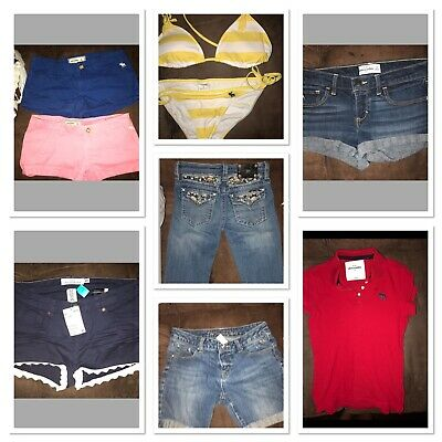 4242a0823b7 Girls Lot All Brand Name Miss Me H M Abercrombie Justice Clothing Size 10  12 14