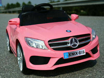 Mercedes Style 12V Coupe Kids Electric Ride On Car Battery Powered Pink