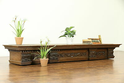 Carved Walnut Antique Italian Architectural Salvage or Mantel Fragment #30805