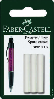FABER-CASTELL Mechanical Pencil Erasers- 3 Erasers Suitable for Grip Plus Models