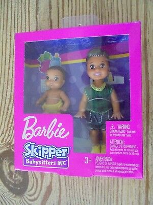 2018 Barbie Skipper Babysitters Inc. Brother And Baby Latino Doll Set Nrfb