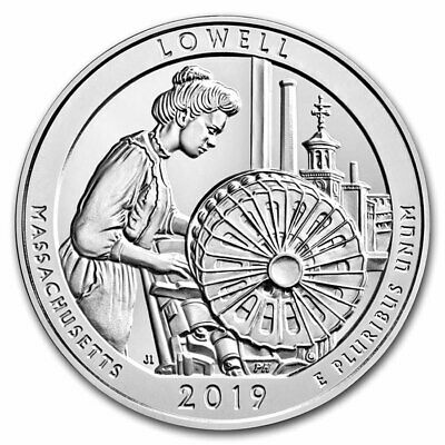 2019 Silver 5oz. Lowell National Historical Park, MA ATB