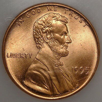1995 Doubled Die Lincoln Cent, Blazing Red Gem Uncirculated Coin, Certified