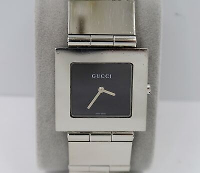 ad01cf18c81 Men s Vintage GUCCI 600M Stainless Steel Large Square Bracelet Wrist Watch