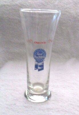 "7 1/4"" tall Original PABST BLUE RIBBON Beer Glass"