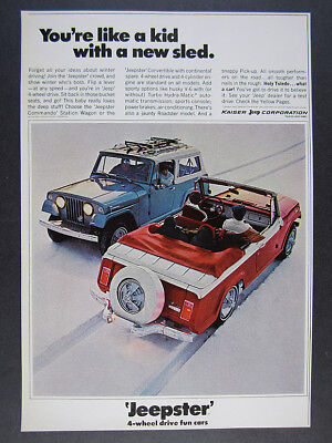 Willys Park in Toledo OH Jeepster Commando 1966 Press Shot Jeep New Metal Sign