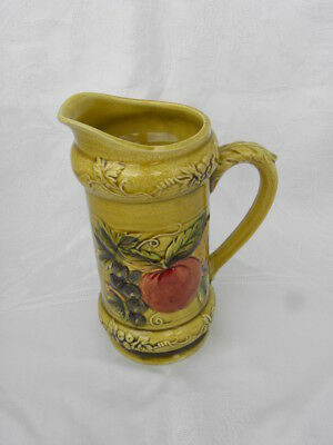 Vintage Geo. Z. Lefton Green/Yellow Pitcher with Fruit, #4333