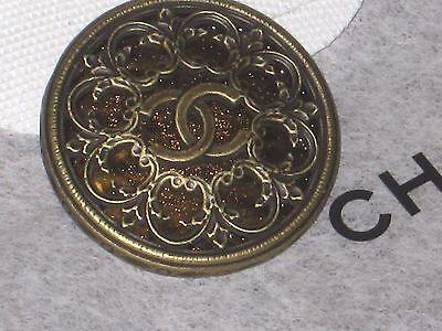 Chanel  Bronze Metal Cc Logo Front  Button  18 Mm /  3/4'' New