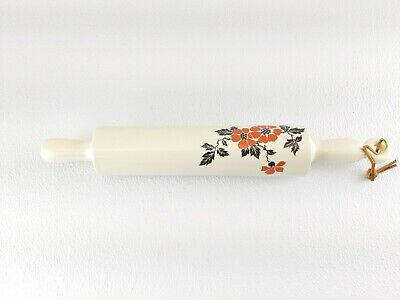 Hall China Specialties Red Poppy Decorative Rolling Pin