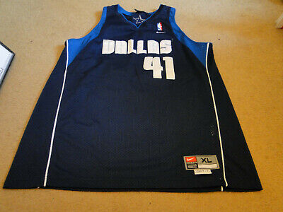the latest 316bf 73b74 DALLAS MAVERICKS # 41 Dirk Nowitski Nba Throwback Jersey From Nike Adult Xl