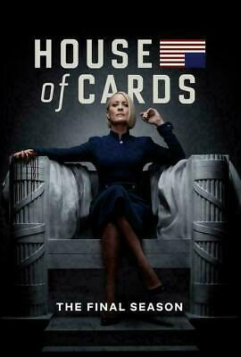 House Of Cards Season 6 DVD Final Series Brand New & Sealed Post UK Compatible