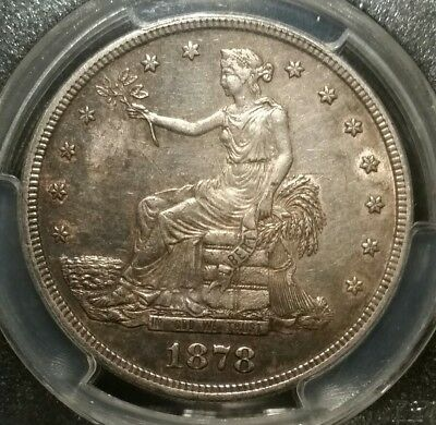 1878 S Trade Dollar Pcgs Au55 T $1 Usa No Chops Silver Toned 1878S Au 55 Orient