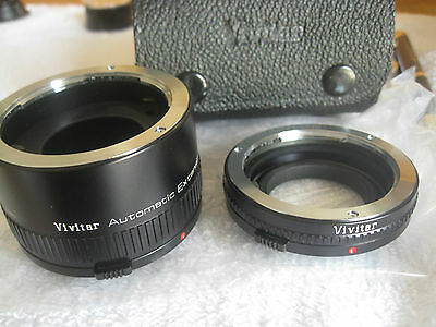 EXTENSION TUBE's Automatic 12 and 36 for Olympus OM - Vivitar with Case