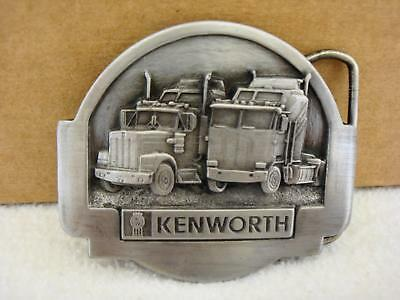 Vintage 1985 Tonkin Inc KENWORTH Trucker Truckie Pewter Belt Buckle NEW NOS