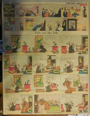 Polly and Her Pals Sunday by Cliff Sterrett from 12/8/1928 Full Page Size !