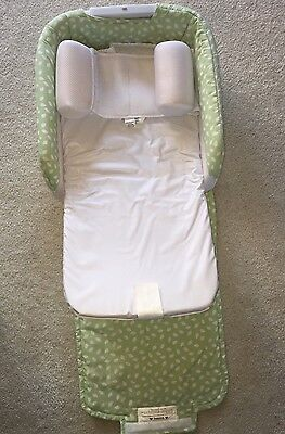Baby's Delight Snuggle Nest Baby Sleeper Changing Station Green With Wedge