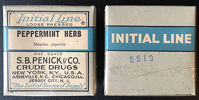 1930's Crude Drugs  Peppermint Herb Box - New  Old Stock – Jersey City, N. J.
