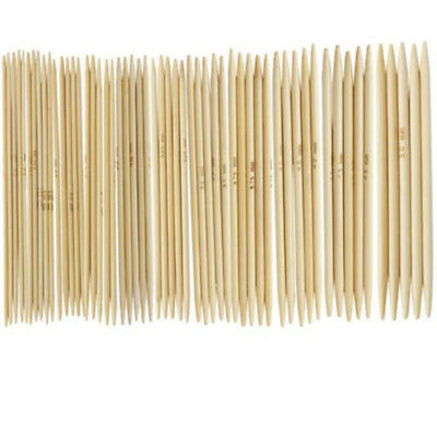 75pcs Double Pointed Bamboo Knitting Needles Kits 2mm - 5mm High Quality Set
