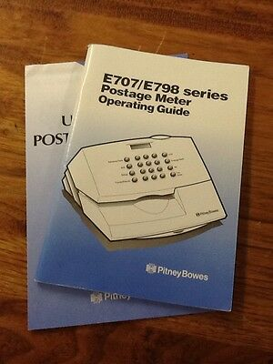 Pitney Bowes Postage Meter Operating Guide E707/E798Series