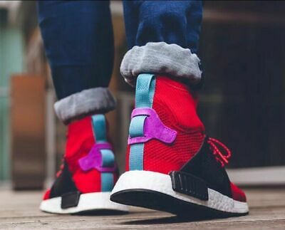 8bbbb9988657a ADIDAS MEN S NMD XR1 Winter Red  Black Sneakers Bz0632 Shoes Size ...