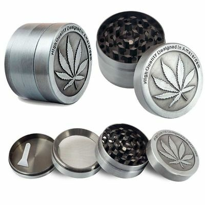 4 Layers Metal Zinc Alloy Tobacco Herb Spice Grinder Hand Muller Smoke Crusher