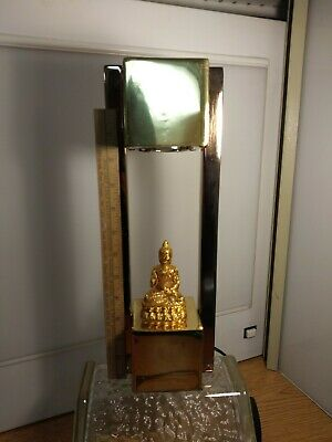 Vintage Buddha Lamp Gilded Metal Gold Plated Brass Mid Century Hollywood Style