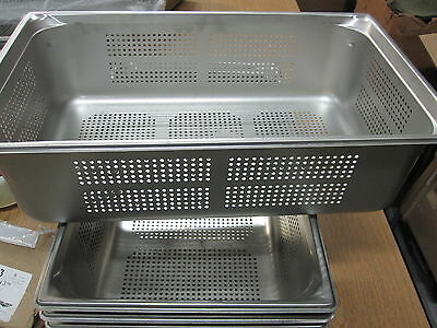 Vollrath 90063 Super Pan 3 Full Size Anti-Jam Stainless Steel Perforated Steam