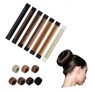 Women Hair Bun Maker Bands Easy Snap Tool Former French Twist DIY Styling Donut