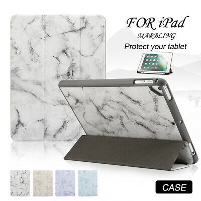Smart Magnetic Marble Case for iPad 9.7 Mini 5 Air 3 Pro 11 Tri-fold Stand Cover