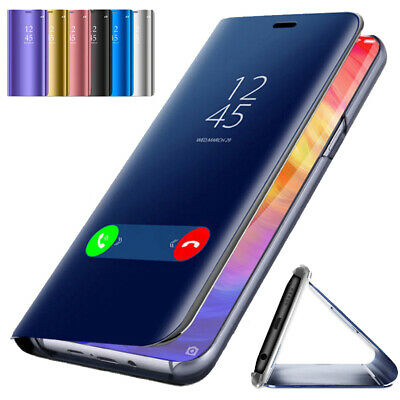 For Xiaomi Mi 9T 9 SE 8 A1 A2 A3 Lite F1 Clear View Mirror Smart Flip Case Cover