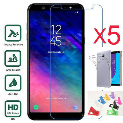 5X 3X Tempered Glass +TPU Protective Case +A Holder For Sam Galaxy M10/M20/A10