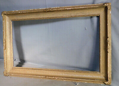 2 Antique Custom Corner Arts Crafts Picture Frame 10x18 and 12x18 Bronze Gilt