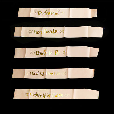 Rose Gold Bride To Be Satin Sash Girls Night Hen Night Out Party Sash Wedding MD