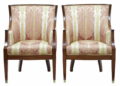 19Th Century French Empire Mahogany Club Chairs
