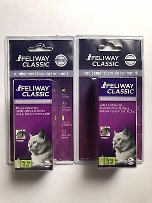 Lot De 2 Spray 20ml Feliway Pour Chat