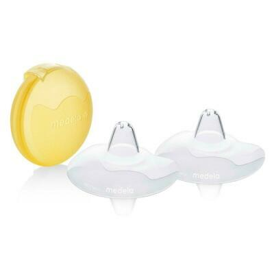 Medela Contact Nipple Shields with Case Convenient Storage Box 20 mm Medium New