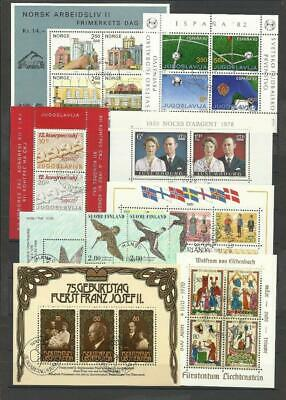 Worldwide. Collection of 75 different Souvenir sheets. Canceled