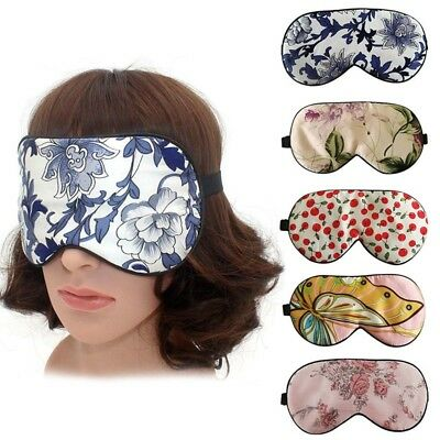 4f98c84fce1 Pure Natural Silk Floral Print Sleep Eye Mask Eyemask Sleep Travel Shade  Cover