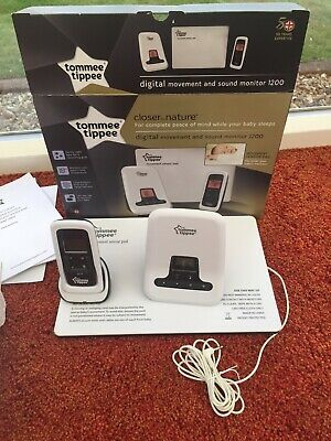 Tommee tippee closer to nature digital baby monitor and movement sensor pad