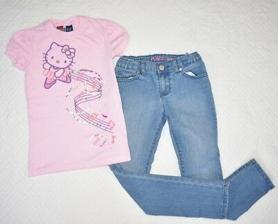3cb9f40ec GAP Junk Food Hello Kitty Children's Place Skinny Jeans 8 Set Outfit Girl  Pink
