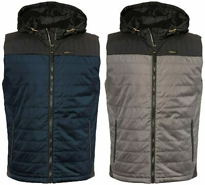 CATERPILLAR CAT 1320027 Storm Vest blue or grey hooded bodywarmer size small-XXL