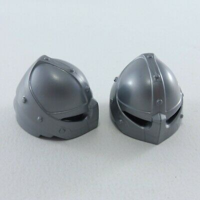 17088 Playmobil Casque Chevalier Medieval Gris