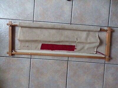 Large Old Wooden Tapestry Embroidery Frame Cross Stitch Arts & Craft Supplies