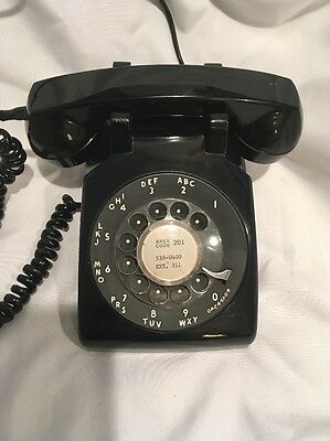 1968 Black Western Electric Bell 500LM Rotary Desk Telephone Vintage