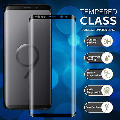 For Samsung Galaxy S9 Plus 3D Full Curved Tempered Glass LCD Screen Protector UK
