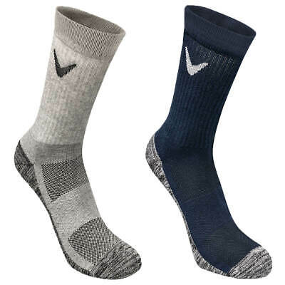 Callaway Golf Mens 2019 Tour Cotton Crew Wicking Breathable Asymetric Fit Socks