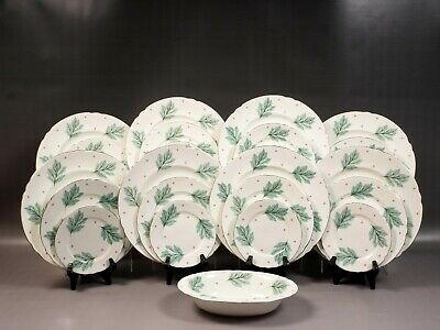 Shelley Drifting Leaves 13848 LARGE Dinner Set Bone China Vintage England