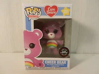 Funko POP! Care Bears Cheer Bear 351 Figure - Glow-in-the-Dark Chase Variant